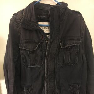 Abercrombie and Fitch sentinel jacket in dark blue